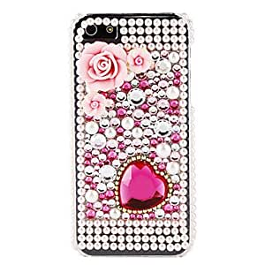 HP DFHeart Flower and Diamond Surface Hard Case for iPhone 5/5S