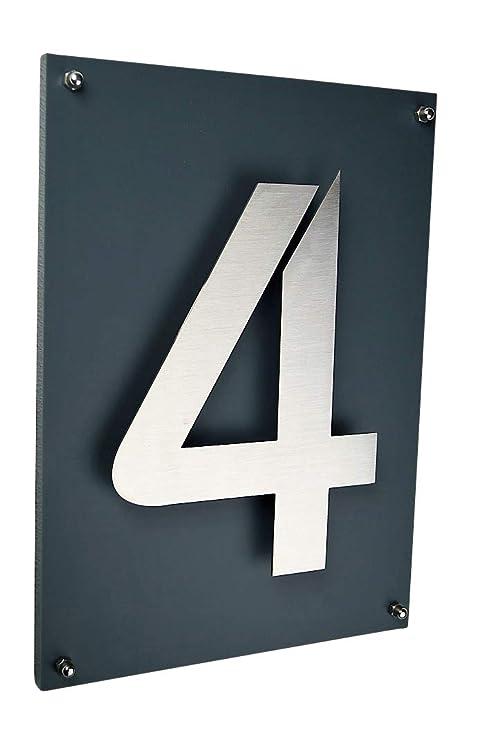 número de casa/placa acero inoxidable V2 A, ITC Bauhaus ...