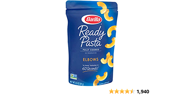 BARILLA Ready Pasta, Elbows Non-GMO, No Preservatives