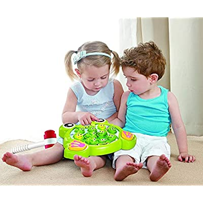 Interactive Whack A Frog Game for Boys & Girls, Learning, Active, Early Developmental, Puzzle Pounding A Frogs Game of Age 3 4 5 6 7 8: Toys & Games