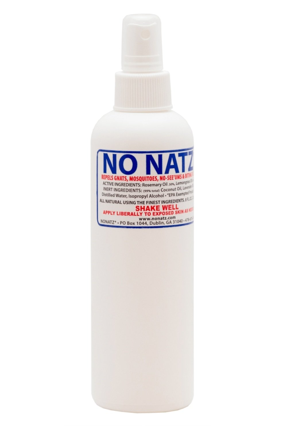 No Natz Insect and Bug Protection, 8oz Spray, All-Natural and Deet-Free, Hypo-Allergenic and Safe for Pets
