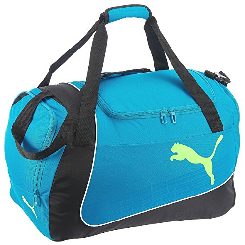 Puma borsa sportiva evoPOWER Medium Bag, Unisex, Sporttasche Evopower Medium Bag, Black/Atomic Blue/Safety Yellow, UA