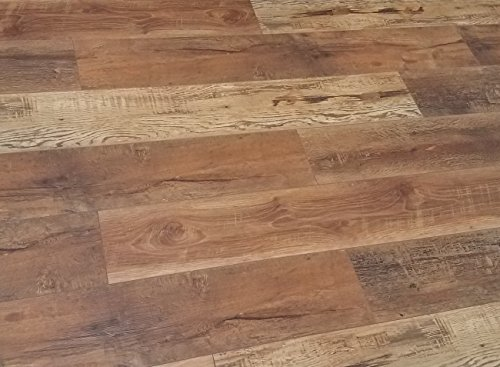 Cheap  Turtle Bay Floors Waterproof Click WPC Flooring - Rich, Reclaimed Barnwood-Look Floating..