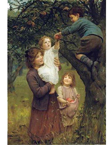 Victorian Trading Co. Picking Apples 1919 Arthur John Elsley Print New ()