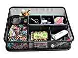 1InTheOffice Mesh Collection Desk Drawer Organizer Tray, Black