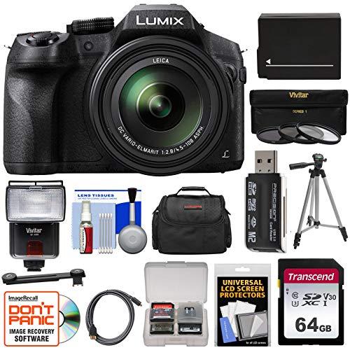 Panasonic Lumix DMC-FZ300 4K Wi-Fi Digital Camera with 64GB Card + Battery...