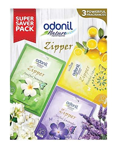 Odonil Bathroom Air Freshener Zipper Mix -10 Gm (Pack Of 3)