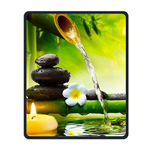 Perfect Gift: Non-Slip Rubber Comfortable Mouse Pads Asian Zen Garden Orchid Candle Stone Bamboo Zen Mouse Mat Personality Desings Gaming Mouse Pad Style 11.8 9.8 Inches (Candle Gel Garden Rose)