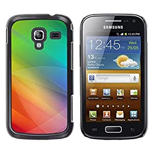 LECELL -- Funda protectora / Cubierta / Piel For Samsung Galaxy Ace 2 I8160 Ace II X S7560M -- Color Tones Green Yellow --