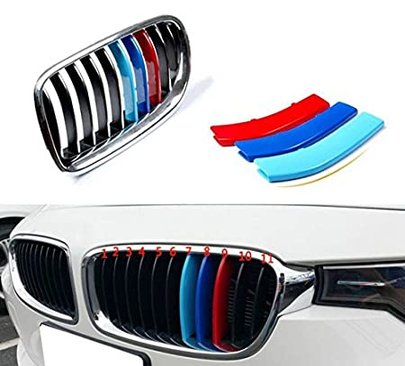 Tuqiang 3D sport Front Grille Trim Strips Grill Cover Stickers for F34