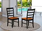Parfait Chair with Wood Seat -  Black & Cherry Finish.
