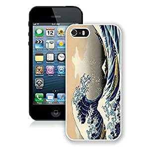 Kingsbeatiful Art painting Waves iphone 4s case cover white cover,iphone 4s case cover,4s case covers 7dvCwbs0OAO