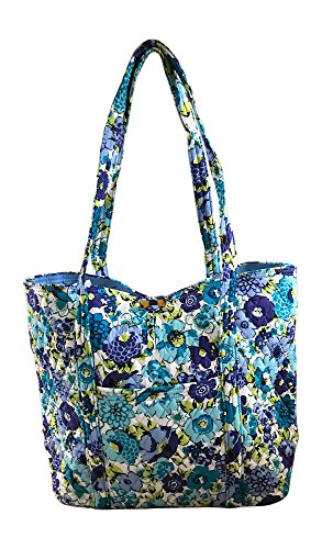 - Vera Bradley Vera Tote Bag, Blueberry Blooms