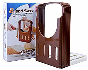 HI-BOOM Compact And Foldable Kitchen Baking Bread/Loaf/Toast Slicer/Cutter Cutting-Cuts Even Slices by HI-BOOM