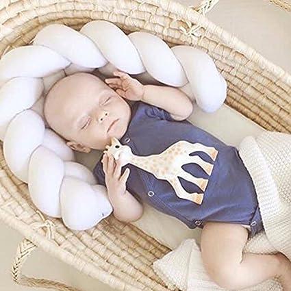 ni/ños chtdz Cuna para beb/é Parachoques Trenza Hecha a Mano Almohada para Tejer Sof/á Almohadas Cojines Decoraciones para beb/és Blue#1 1-3 m Size 1m 40 a 118 Pulgadas