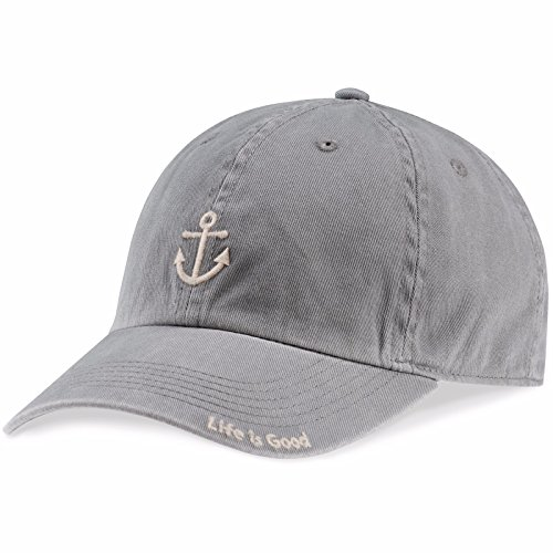 Life is good Unisex Anchor Chill Cap, Slate Gray, One Size (Anchor Ball Cap)