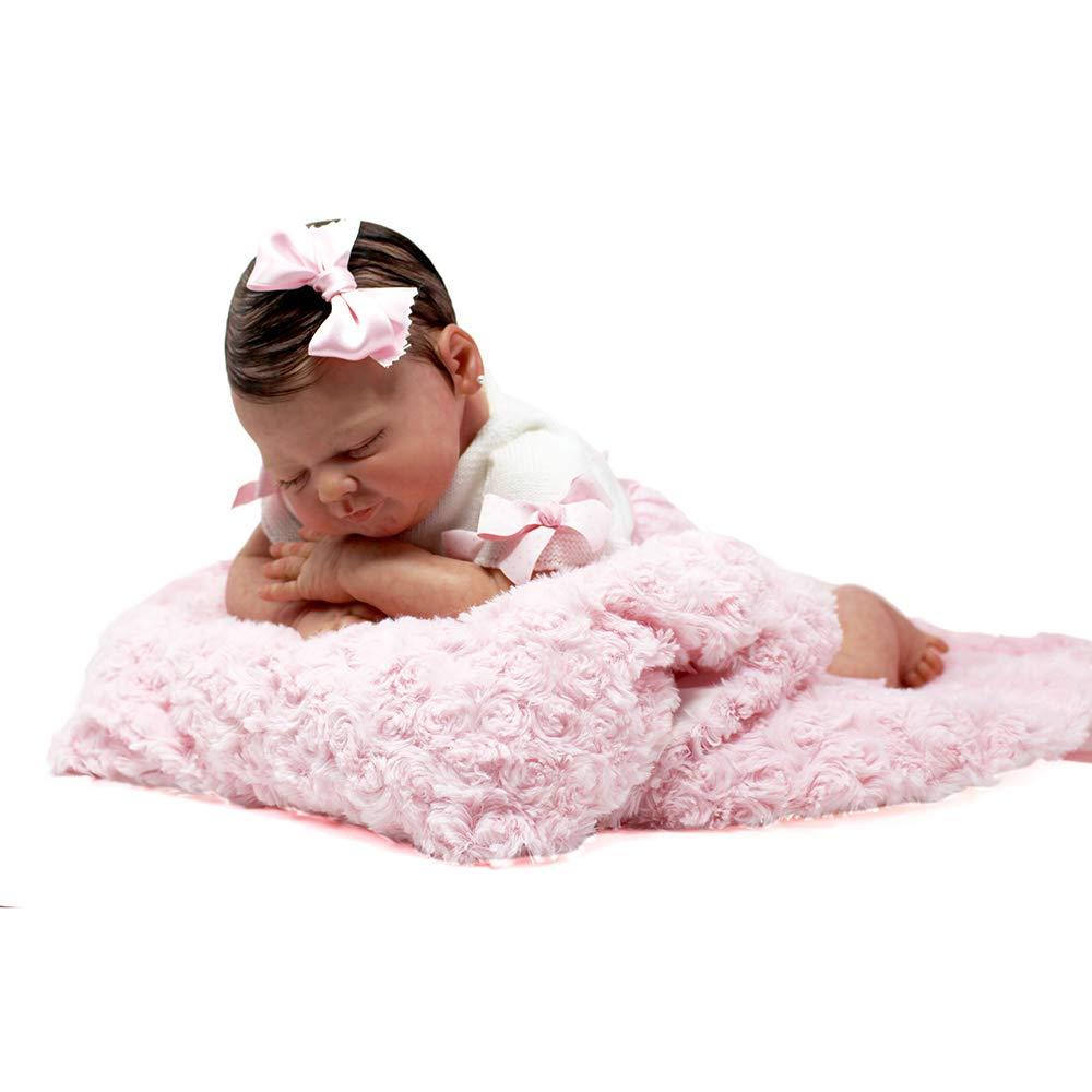 Muñeca Bebé Recién Nacido, Reborn Original, Oficial y Certificada - Hiperealista, Hecha y Pintada a Mano, Vinilo de Silicona Suave, Cuerpo de Tela de ...