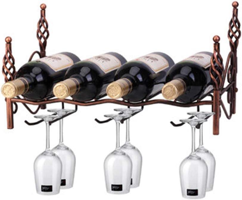 ウォールマウントワイングラスラック、設置が簡単、ワインボトル4本とワイングラス6個、ステムウェアストレージオーガナイザーシェルフ、キッチン、バー、ワインセラー用