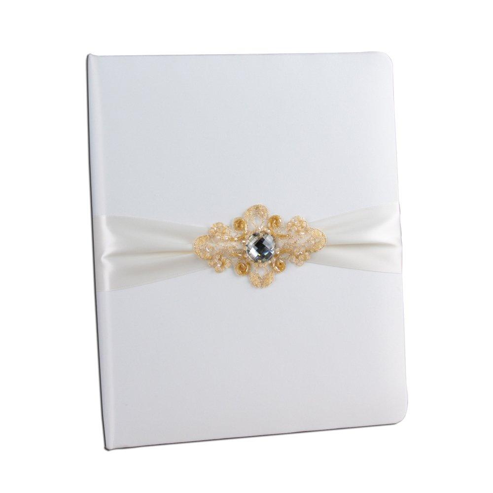 Ivy Lane Design Elizabeth Wedding Memory Book, Ivory by Ivy Lane Design