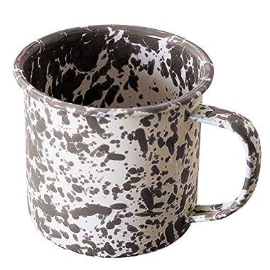 Enamelware Coffee Mug - Grey Marble
