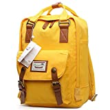 GUCHIS Canvas Casual Backpack Waterproof High Capacity School Daypack Mummy Bag