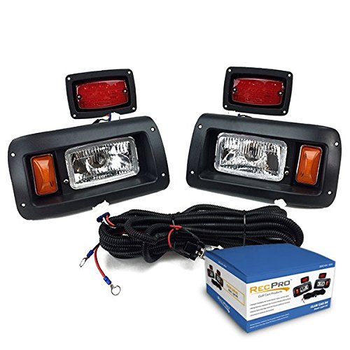 NEW RecPro CLUB CAR DS GOLF CART HALOGEN LIGHT KIT w/LED TAIL LIGHT 1993-UP