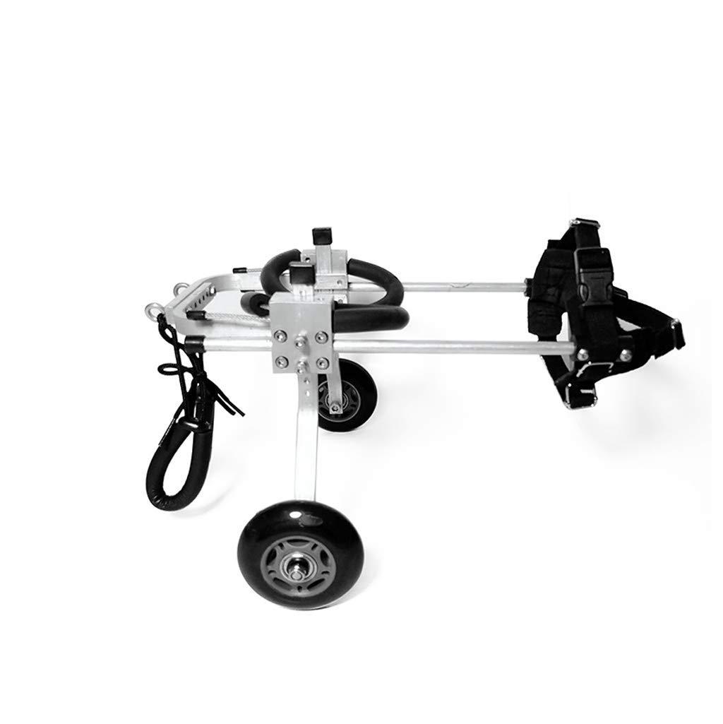 BLACK Medium BLACK Medium Dog Wheelchair Dog Scooter hind Limb Disabled Wheelchair pet Rehabilitation Training car (color   Black, Size   M)