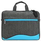 Slim Blue Laptop Messenger Bag 14 15.6 inch with
