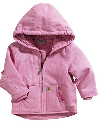 Carhartt Little Girls' Toddler Redwood Comfort Jacket, Pink, 4T (Best Toddler Winter Coat)