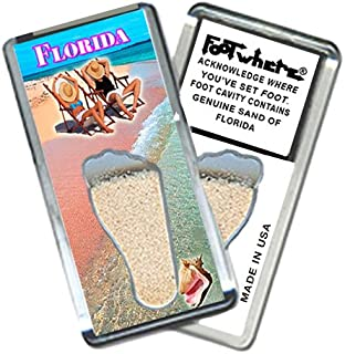 """product image for Florida """"FootWhere"""" Souvenir Fridge Magnet. Made in USA (FL202 - Chillin)"""
