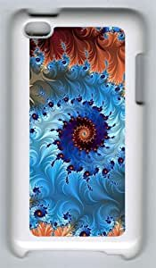 Spiral Rotation Multi Colored Circle Custom iPod 4 Case Cover ¨C Polycarbonate ¨C White