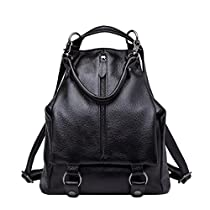 BOYATU Genuine Leather Backpack Purse for Women Fashion Travel Bag Rucksack