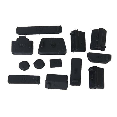 non-brand Protective USB//HDMI//USB-C Ports Cover Anti-Dust Plug Stopper for Laptop Black