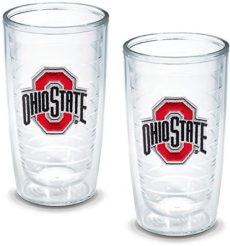 Tervis 1005914 Ohio State University Emblem Tumbler (Set of 2), 16 oz, Clear