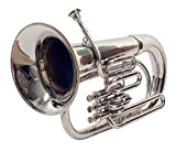 Queen Brass Euphonium Bb Valve Chrome Finish W Case Mp Silver