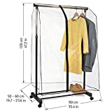 Tatkraft Transparent Smart Cover for Garment Rack / Clothes Protection Cover 23X35X47 Inch