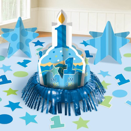 (Amscan Cupcake 1St Birthday Boy Table Decorating Kit)