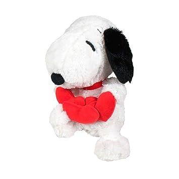 Snoopy Peluche corazón, color gris (Famosa 760012862)