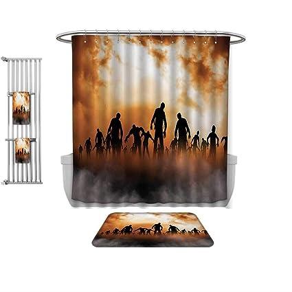 . Amazon com  QINYAN Home 4 Piece Bathroom Set Halloween Decorations
