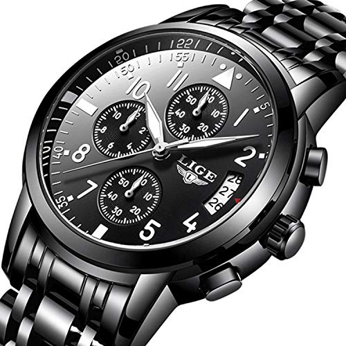 Men Business Watch Chronograph Clock Brand Luxury Fashion Casual Sport Waterproof Quartz...