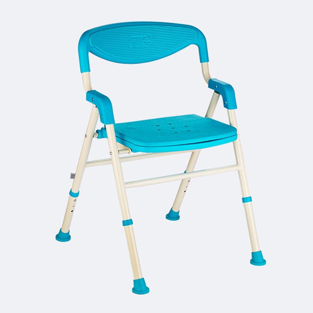 バス椅子老人妊婦女性シャワーチェアノンスリップ折り畳まれたバスルームスツール   B07D6GCHVK