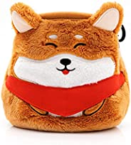 YY Vertical Shiba Inu   Chalkbag for Rock Climbing Gymnastics Bouldering Suitable for Adults and Children Cute