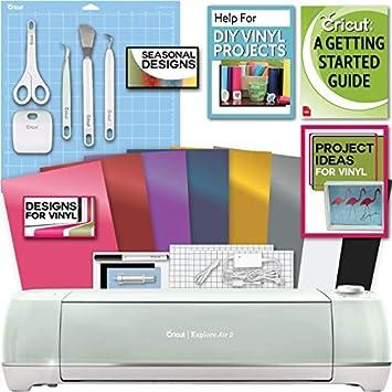 Cricut Explore Air 2 Machine Bundle Tool Kit Vinyl Pack Designs Project Inspiration Amazon In Home Kitchen