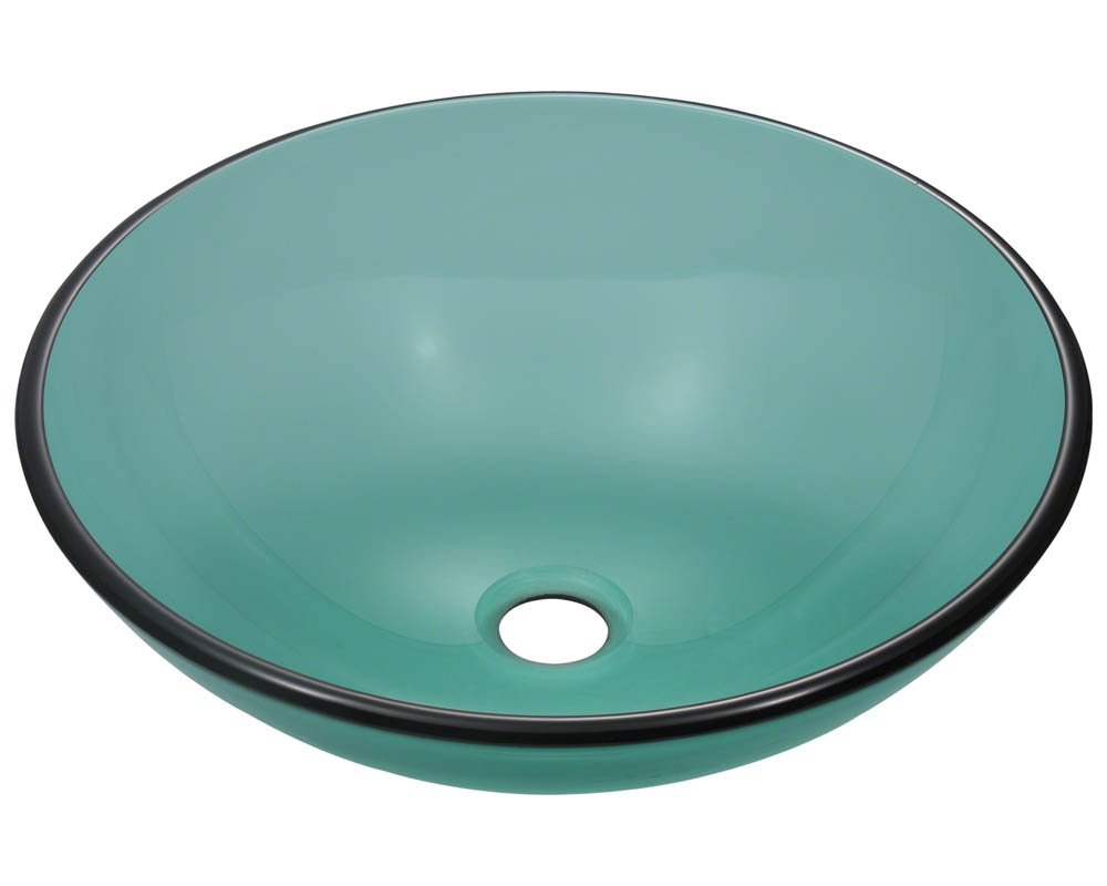 601 Emerald Coloured Glass Vessel Sink