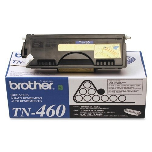 Brother TN460 Black Toner Cartridge - Laser - 6000 Page - Black - 1