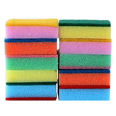 GogoForward 10PCS Cleaning Sponges Universal Sponge Brush Set Kitchen Cleaning Tools Helper