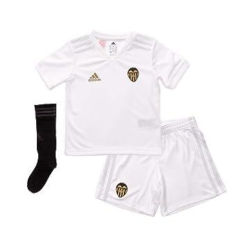 Adidas Valencia CF Primera Equipación Niño 2018-2019, Conjunto, White-Crystal White: Amazon.es: Deportes y aire libre