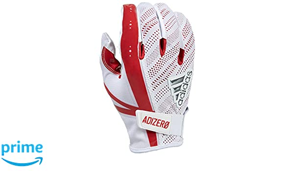 adidas 5 Star 6.0 Receivers Gloves, White/Red, XX-Large