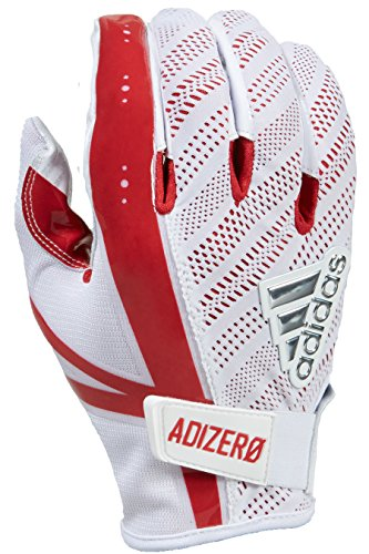 (adidas 5 Star 6.0 Receiver's Gloves, White/Red, Small)