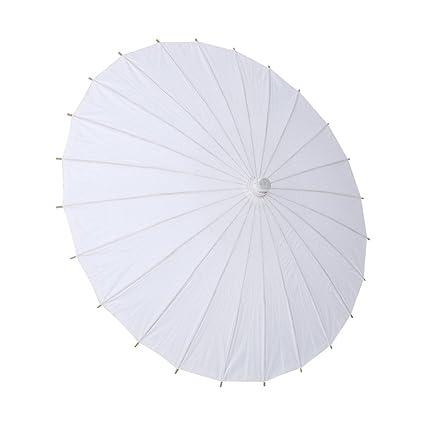 GLOGLOW Papel Blanco Paraguas Favor de la Boda Decoración del Partido Chino Parasol Fotografía Nupcial Accesorio